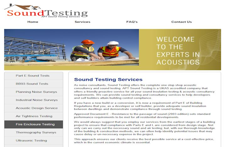 UK Sound Testing Services